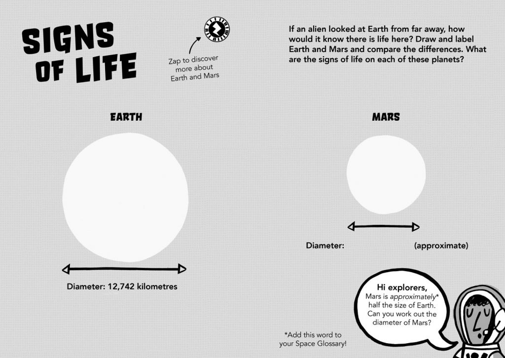 Signs of Life Mars Diary Free Primary Science Resources for Key Stage 2